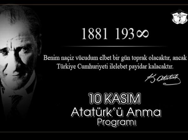 Okulumuz 2 A Sinifi Ogrencileri 10 16 Kasim Ataturk Haftasi