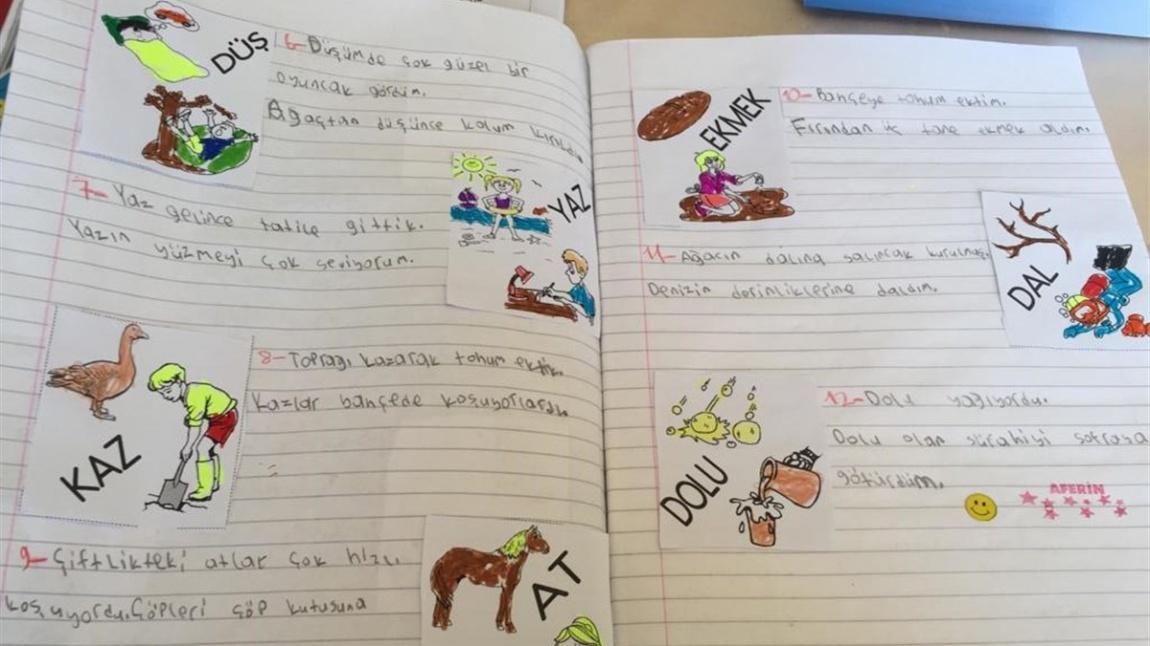 Okulumuz 3 B Sinifi Ogrencileri Es Sesli Kelimelerle Ilgili